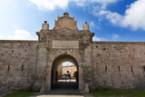 Menorca La Mola Castle door in Mahon at Balearics poster
