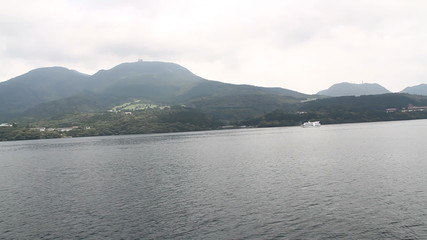 Atmosphere around Lake Ashi, Tokyo, Japan.