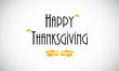 Happy Thanksgiving  greeting card, vector design