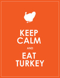 keep calm and eat turkey background poster