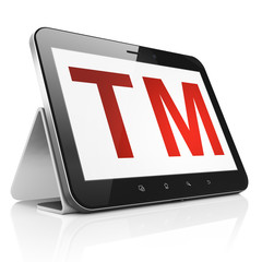 Law concept: Trademark on tablet pc computer