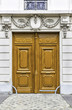 Wood entry door in Paris, France