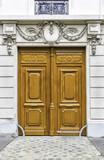 Wood entry door in Paris, France