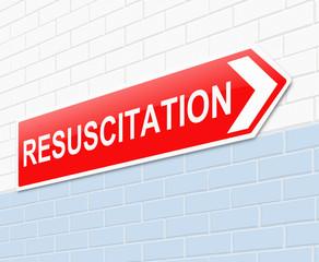 Resuscitation concept.