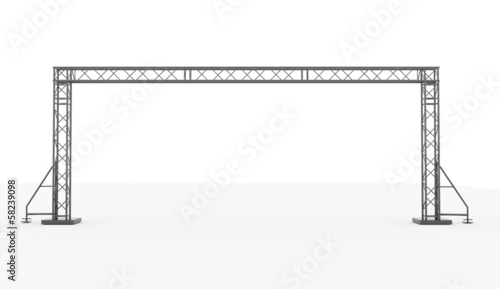 Stage construction rendered isolated