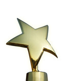 Star award isolated over white background