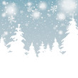 Snow Background Christmas Trees