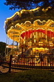 Merry-go-round carousel at night, Lignano Sabbiadoro, Italy