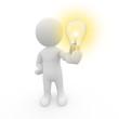 canvas print picture - Mr. Smart Guy hält eine Lampe