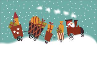 Cartoon Christmas train