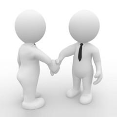 2 Geschäftsmänner schütteln sich die Hand