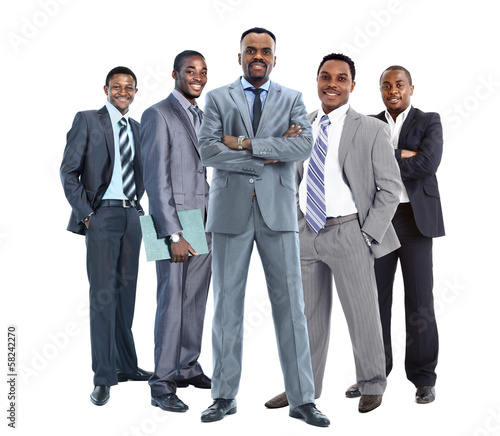 group of african american businessmans