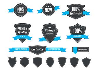 Retro Badges and Shields