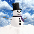 canvas print picture - Schneemann