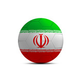 Iran flag ball isolated on white background