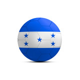Honduras flag ball isolated on white background