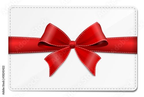 Geschenkkarte mit Schleife