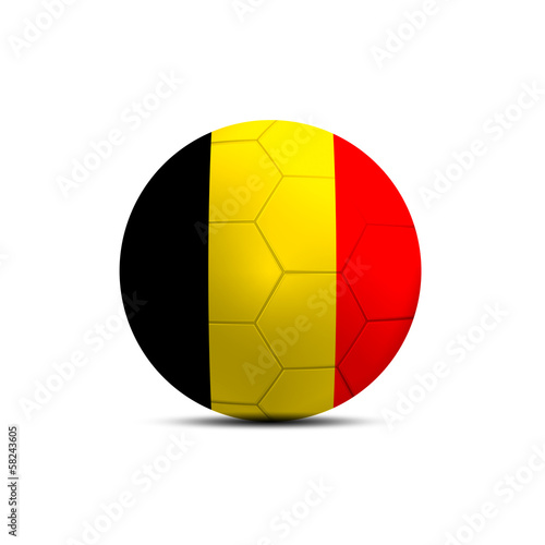 Belgium flag ball isolated on white background