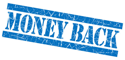 Money back grunge blue stamp