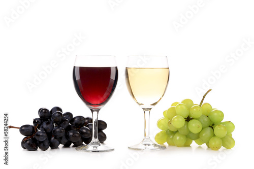 Wine and grapes composition.