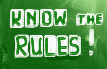 Know The Rules Concept