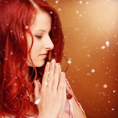 Gebet Schnee Frau