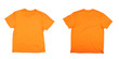 Orange t-shirt front and back.