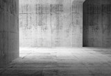Fototapety Empty dark abstract concrete room interior. 3d illustration
