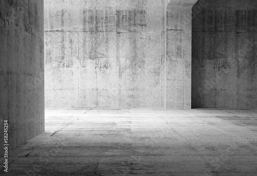 pusty-ciemny-abstrakta-betonu-pokoju-wnetrze-3d-ilustracja