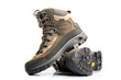 A pair of new hiking boots on white background - 58245420