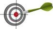 Ziel Dartpfeil Erfolg Konzept Dartscheibe - Vektor