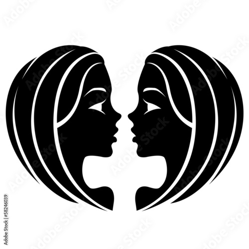 Black Gemini Zodiac Star Sign