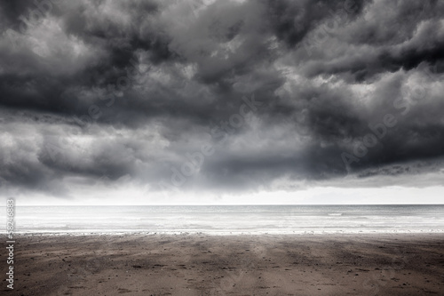 Stormy weather by the sea