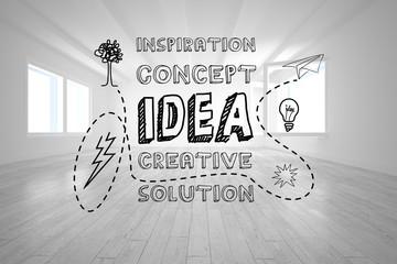 Idea graphic in bright room