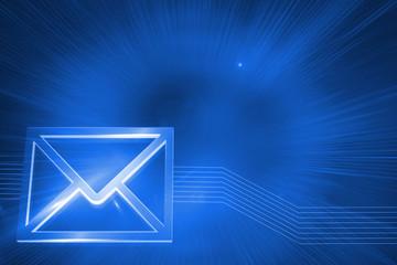 Digitally generated glowing envelope