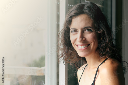 Portrait of beautiful smiling 35 years old woman