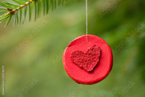 Christmas decoration with heart