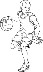 hand drawn basketball boy