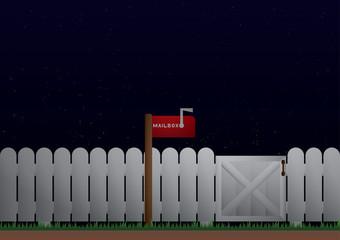mailbox night scene