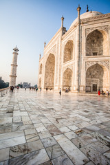 Taj mahal , A famous historical monument in India, Agra