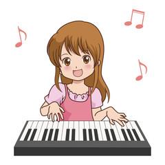 女の子/ピアノ