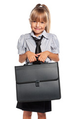 Little girl with briefcase