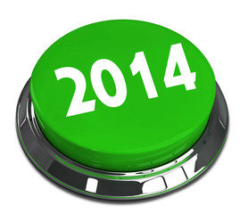 2014 3d Round Green Metal Shiny Button
