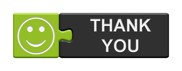 Puzzle-Button grün grau: Thank you