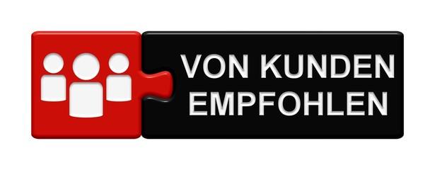 Puzzle-Button rot schwarz: Von Kunden empfohlen