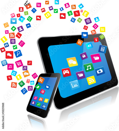 Tablet PC and Smart Phone with apps