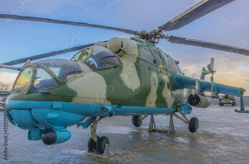 russian helicopter ready to take off