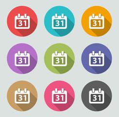 Calendar icon - Flat designs