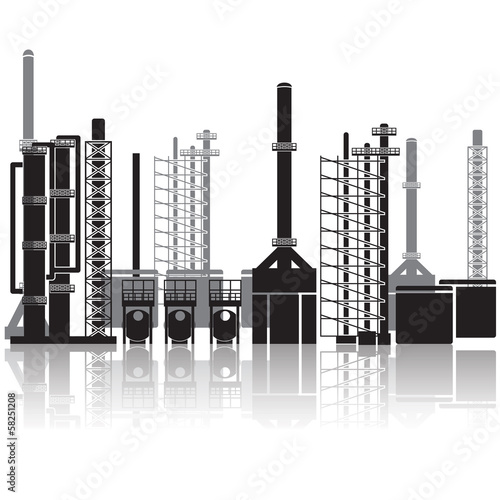 oil refinery, pipelines, tanks, petrol, gas