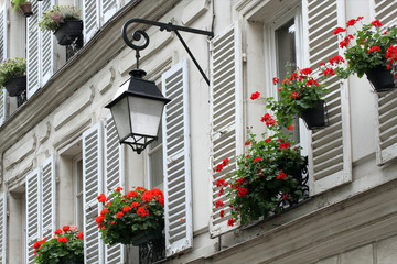Windows shutters on Montmartre, Paris.